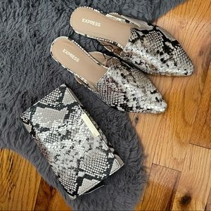 NWT Snakeskin Shoes and Bag Set